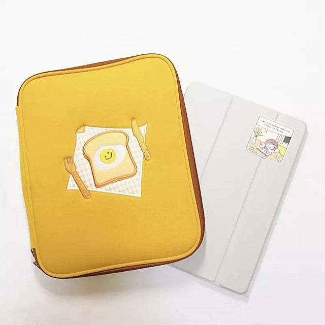 Korea Embroidery Toast Ipad Tablet Notebook Computer Liner Bag 11 Inch 13 Inch Handheld Digital Storage Bag