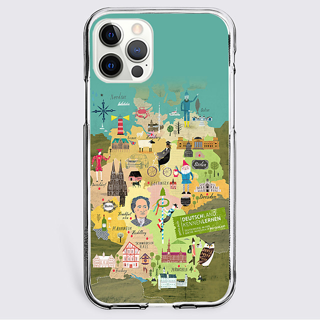 Map Quotes & Sayings Case For Apple iPhone 12 iPhone 11 iPhone 12 Pro Max Unique Design Protective Case Shockproof Back Cover TPU