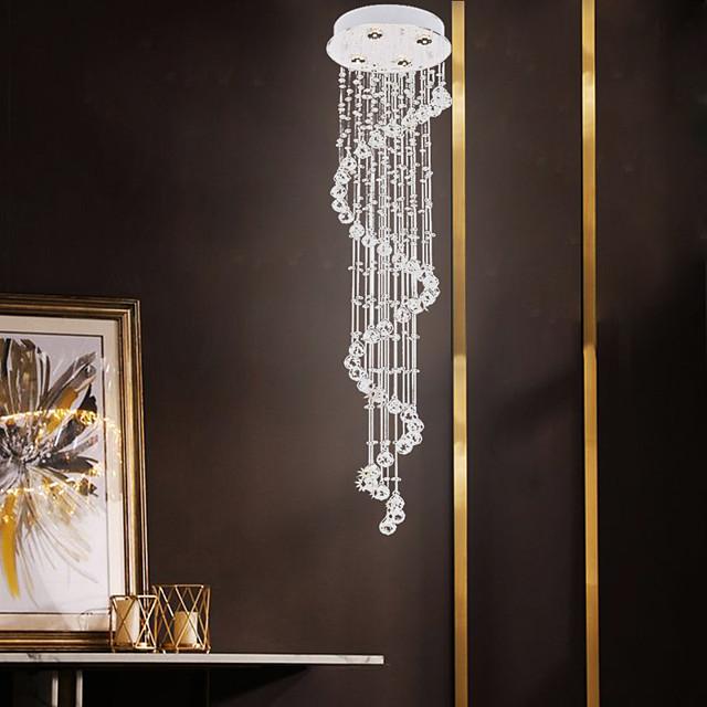 4-Light 35 cm Crystal / Creative Chandelier Metal Crystal / Linear Electroplated Artistic / Modern 110-120V / 220-240V