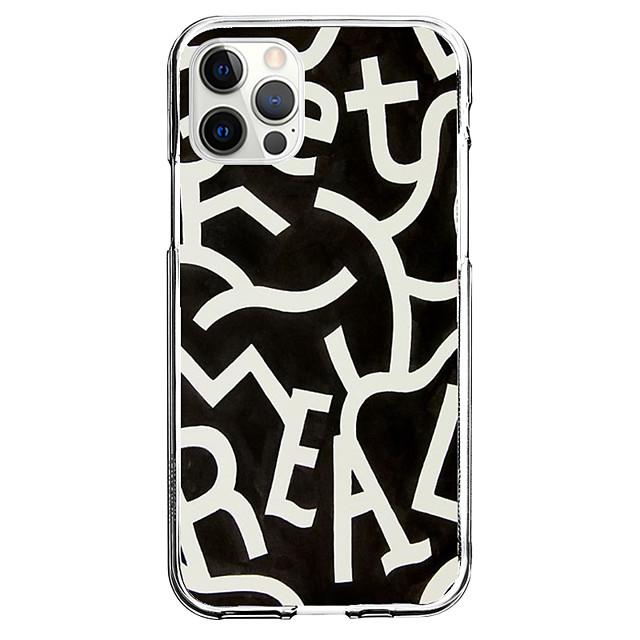 Geometria Alfabetico telefono Astuccio Per Apple iPhone 12 iPhone 11 iPhone 12 Pro Max Design unico Custodia protettiva Resistente agli urti Fantasia / disegno Per retro TPU