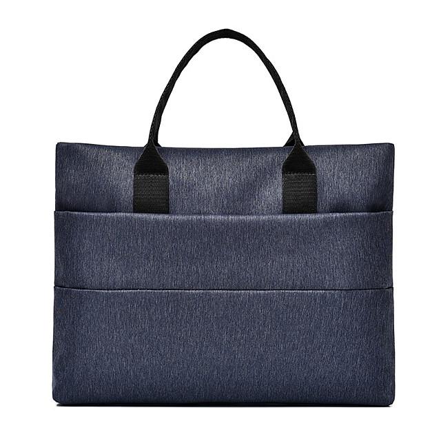 Unisex Oxford Cloth Laptop Bag Zipper Solid Color Daily Office & Career Black Grey Dark Blue