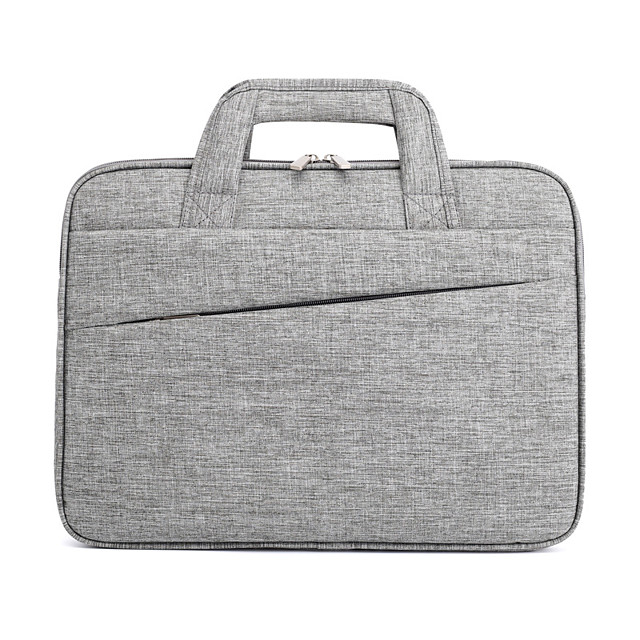 Unisex Oxford Cloth Laptop Bag Zipper Solid Color Daily Office & Career Black Dark Blue Gray