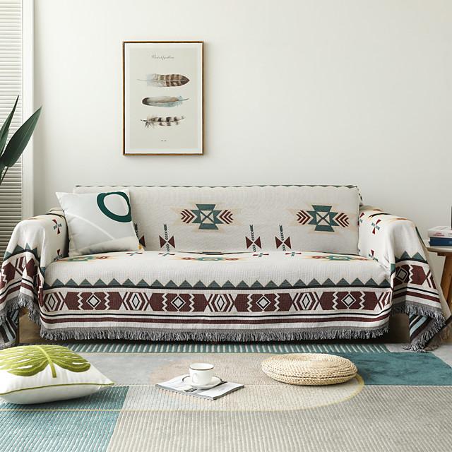 sofadæksel sofadæppe geometrisk print sofadæksel sofabeskytter sofadæksel vaskbar til lænestol / loveseat / 3-personers / 4-personers / sofa i l-form