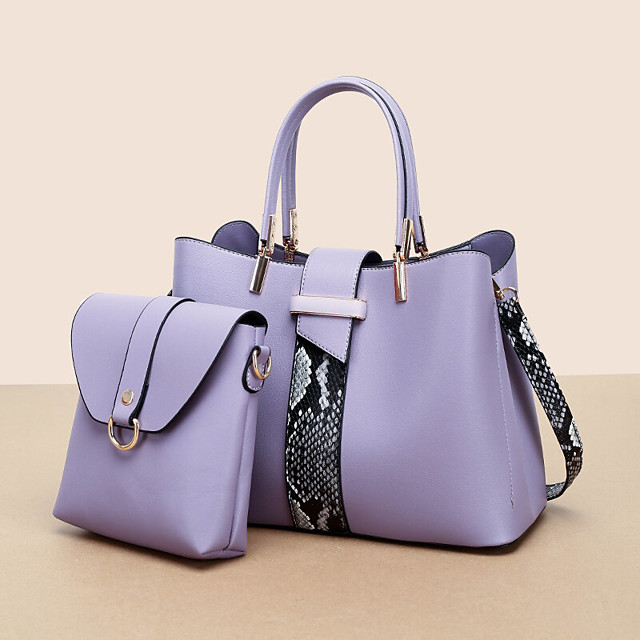 Kobiety 2szt PU Leather Fashion Casual Business Multi-Carry Torba na ramię Torebka Crossbody Bag