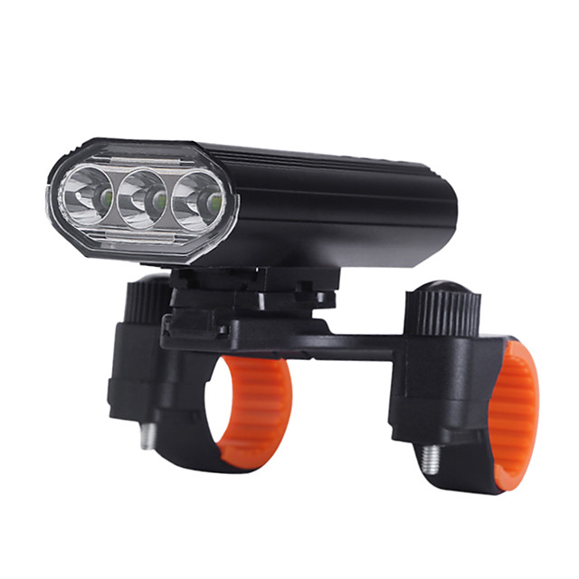 LED Bike Light Rechargeable Bike Light Set Bike Glow Lights Front Bike Light LED Bicycle Cycling Waterproof 360° Rotation Super Bright USB Charging Output 18650 1600 lm Rechargeable Batteries White