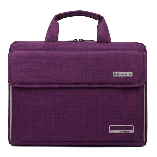 Unisex Nylon Laptop Bag Zipper Solid Color Daily Office & Career Black Purple Red Dark Red