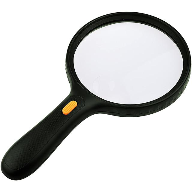High Definition LED Handheld 5 Magnifiers / Magnifier Glasses 138 mm Plastic