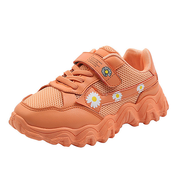 Boys' Girls' Trainers Athletic Shoes Comfort PU Little Kids(4-7ys) Big Kids(7years +) Daily Walking Shoes Pink Orange Green Fall Spring