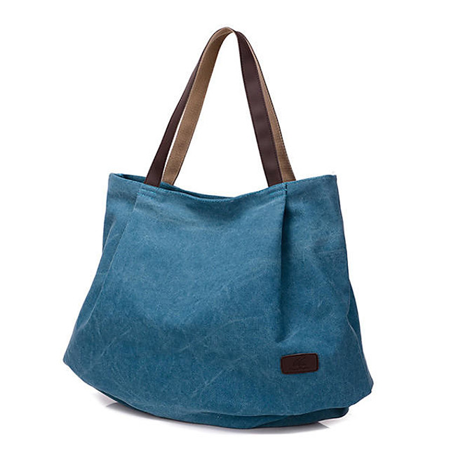 women canvas tote bags casual simple shoulder bags capacity shopping bags
