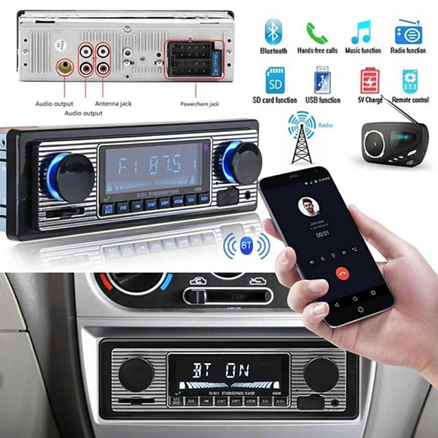 Bluetooth Vintage Car Radio MP3 Player Stereo USB AUX Classic Car Stereo Audio Car MP3 Player MP3 / SD / USB Support / DAB for universal Support