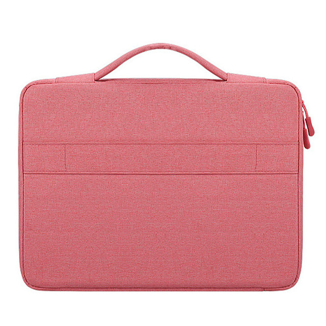 Unisex Oxford Cloth Laptop Bag Zipper Solid Color Daily Office & Career Dark Grey Pink Light Grey