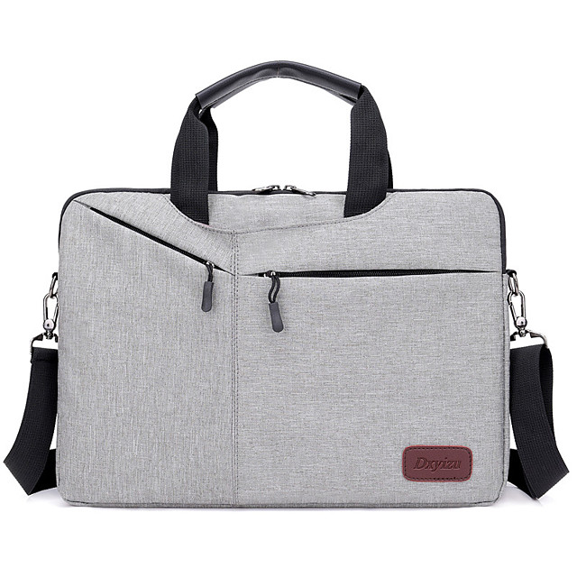 Unisex Oxford Cloth Laptop Bag Zipper Solid Color Daily Office & Career Black Pink Dark Blue Gray