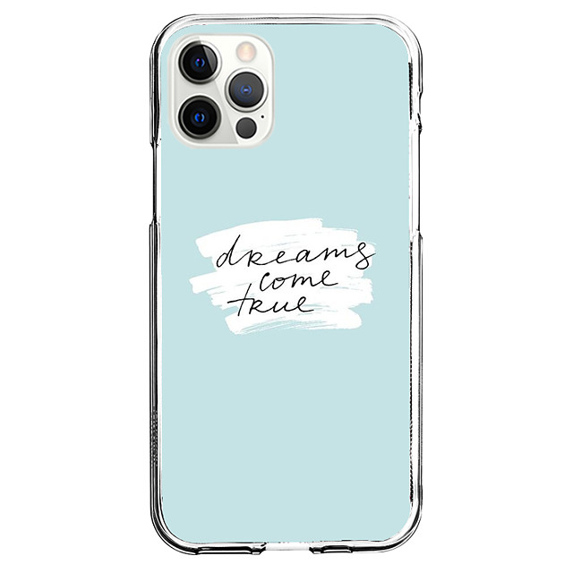 Word / Phrase Fashion Case For Apple iPhone 12 iPhone 11 iPhone 12 Pro Max Unique Design Protective Case Shockproof Back Cover TPU