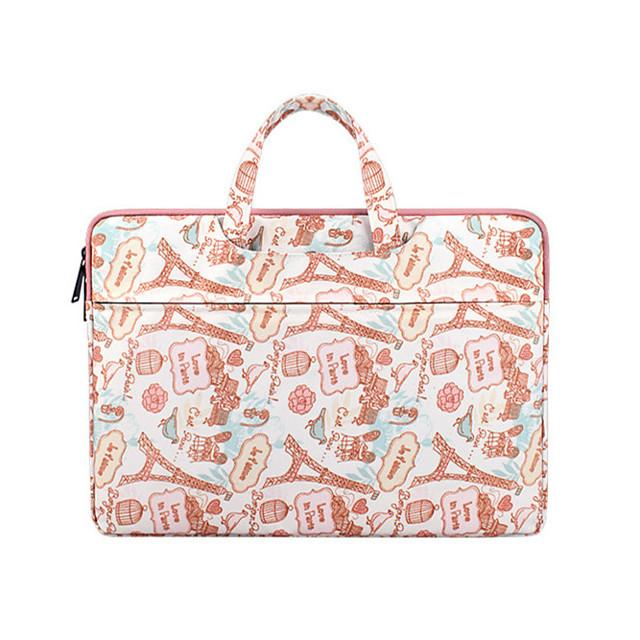 Unisex Canvas Laptop Bag Zipper Geometric Letter Daily Office & Career Red Pink Dark Blue