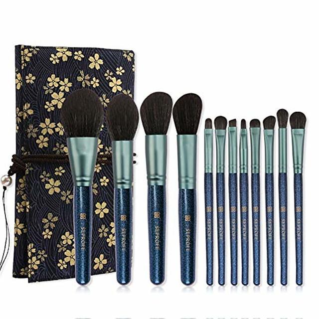 ZKHZS Something New indigo 12 new full set of beginner makeup brush makeup brush kit (Size : A)