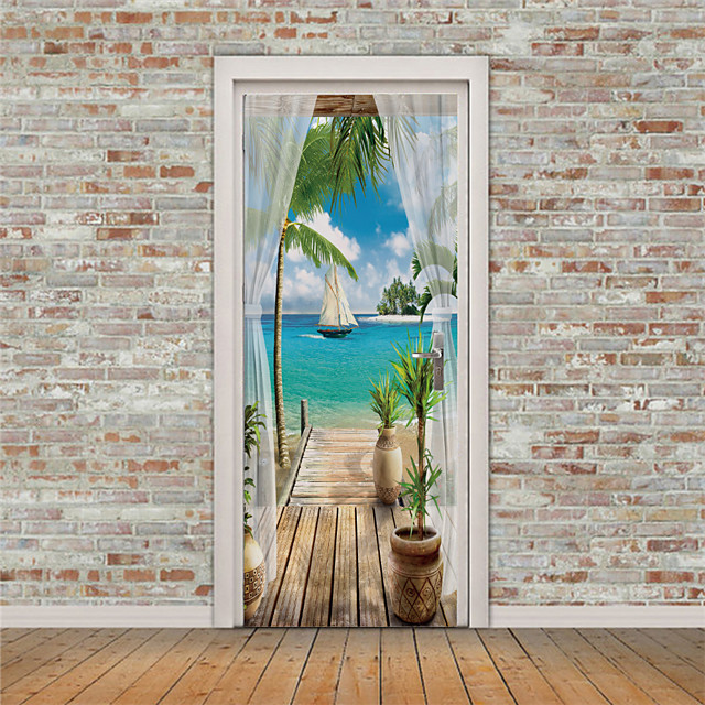 Vacanza Adesivi da parete Camera da letto / Soggiorno, Rimovibile Vinile Decorazioni per la casa Adesivo 2 pezzi