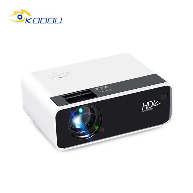 KOOOU D60 Mini LED Projector 2800 Lumens 1080p Supported Resolution Multiple Ports Built-in Speaker Portable Smart Home Theater Cinema With Remote Control