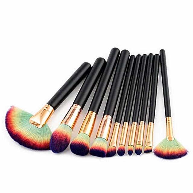 Makeup Brush Set Make-up Tools Nylon Cosmetic Brush Eye Brush 10 In 1, (Size : T-051)