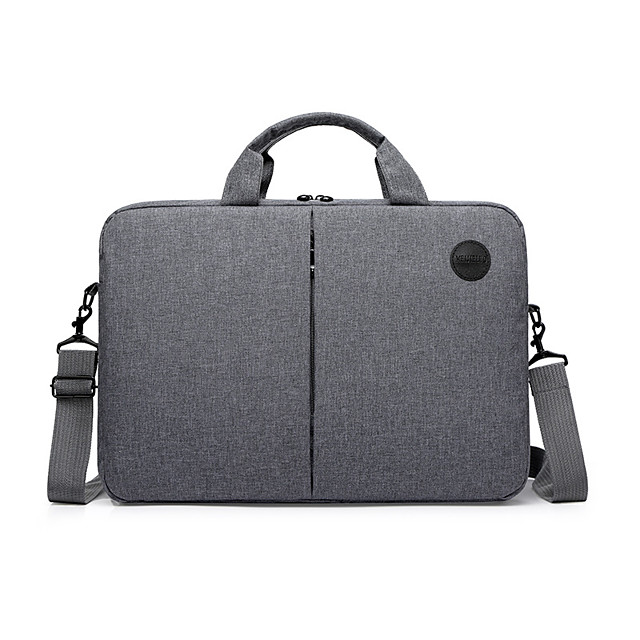 Unisex Waterproof Nylon Laptop Bag Zipper Solid Color Daily Office & Career Black Red Navy Blue Gray