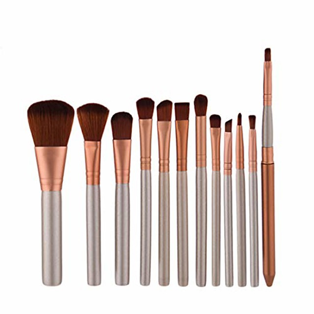 Makeup brushes Makeup Brush Set Tools Make-up Toiletry Kit Nylon Cosmetic Brush Eye Brush 12pcs (color : 12-piece)
