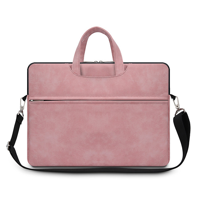 Unisex Bags Leather Top Handle Bag Zipper Office & Career Handbags Black Blushing Pink Gray