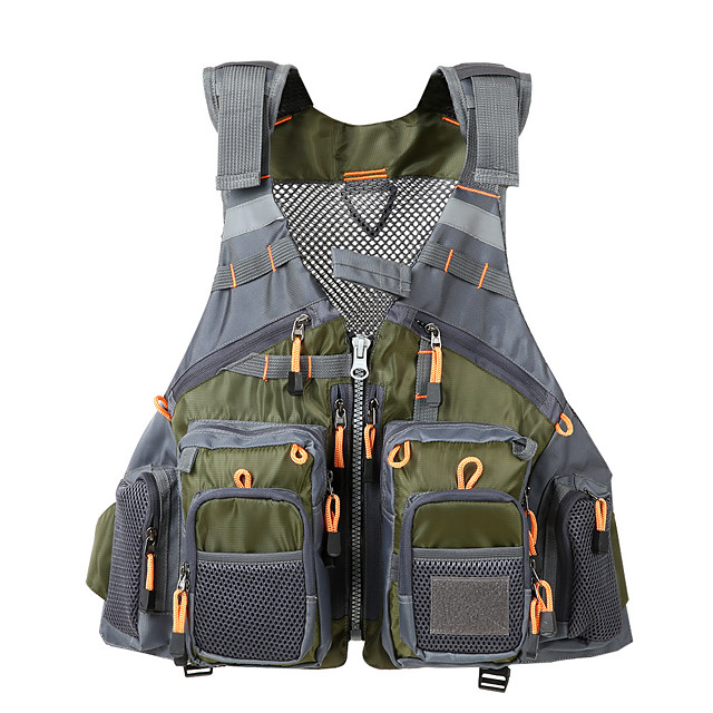 Fishing Accessory Fishing Life Jacket Fly Fishing Vest Travel Photography Mesh Vest Adjustable Breathable Men Women Outdoor Jackets Yellow