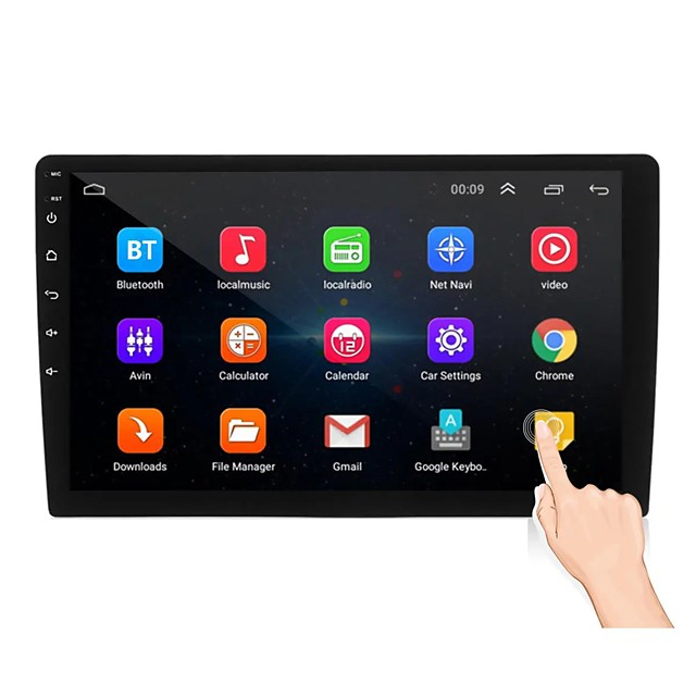 Oukoo 10.1Inch 2Din for Android 8.1 Car Stereo Radio MP5 Player 1+16G IPS 2.5D Touch Screen GPS WIFI FM
