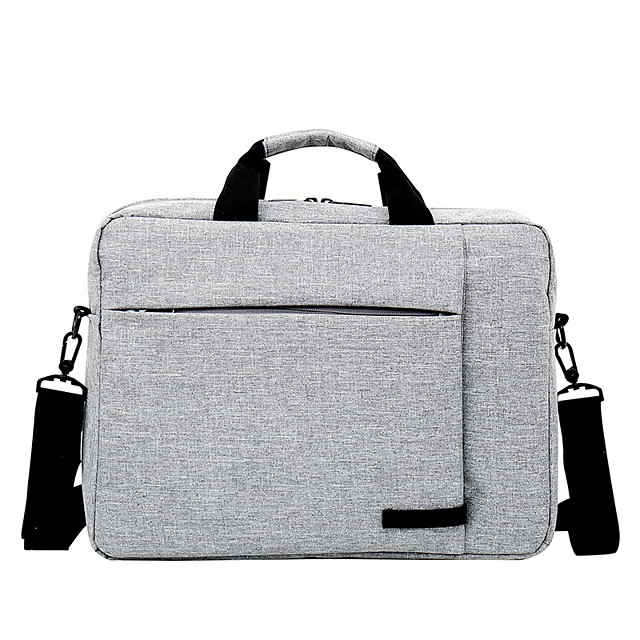 Unisex Nylon Laptop Bag Zipper Solid Color Daily Office & Career Dark Grey Red Light Grey Pale Blue