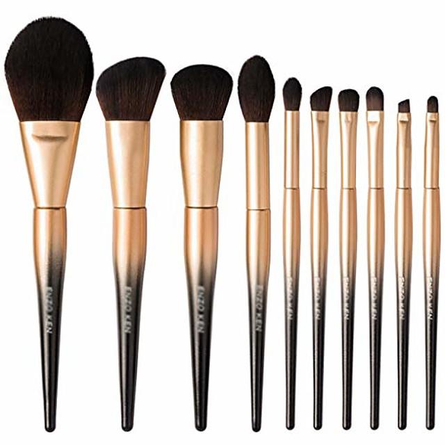 Makeup Brush Set Eyeshadow Brush Set Makeup Tools Makeup Beginner Brushes Complete Set (Color : Gold)