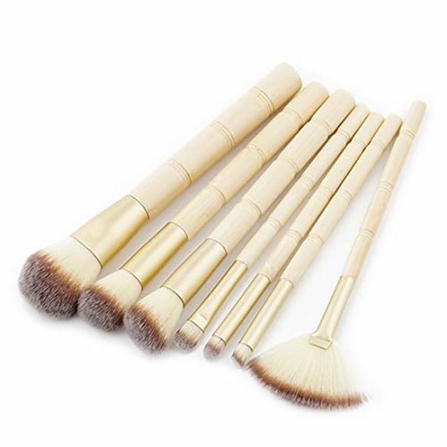 Makeup brushes Bamboo Shape Makeup Brush Set Tools Make-up Toiletry Kit Nylon Cosmetic Brush Eye Brush 7pcs (color : 7-piece)