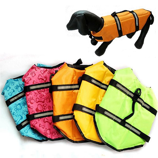 Dog Cat Vest Life Vest Bone Classic Winter Dog Clothes Puppy Clothes Dog Outfits Yellow Blue Pink Costume for Girl and Boy Dog Polyester XS S M L XL
