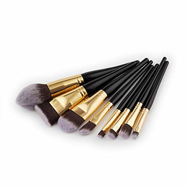 makeup brushes makeup brush set tools make-up toiletry kit nylon cosmetic brush eye brush 8pcs (color : black gold)