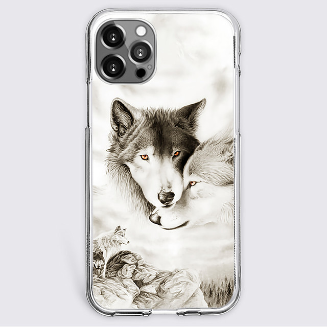 Animal Case For Apple iPhone 12 iPhone 11 iPhone 12 Pro Max Unique Design Protective Case Shockproof Back Cover TPU