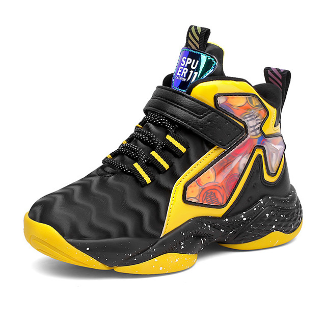 Boys' Girls' Trainers Athletic Shoes Comfort PU Little Kids(4-7ys) Big Kids(7years +) Daily Walking Shoes Yellow Red Blue Fall Spring