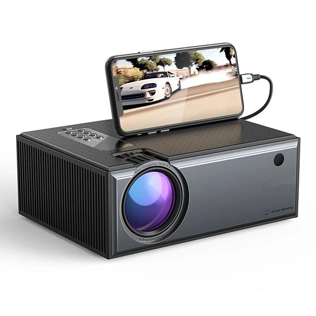 proiector lcd waza® w01-pro 2800 lumeni telefon aceeași versiune de ecran suportă intrare 1080p Dolby audio fără fir portabil proiector inteligent home theater
