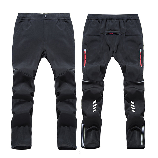 Men's Hiking Pants Trousers Solid Color Winter Outdoor Standard Fit Fleece Lining Breathable Warm Stretchy Bottoms Black Fishing Climbing Camping / Hiking / Caving M L XL XXL XXXL