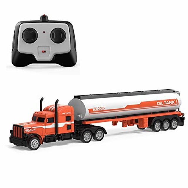 2.4G RC Tow Truck 1:32 Detachable Flatbed Semi-Trailer Engineering Tractor Remote Control Trailer Truck Electronics Hobby Toy