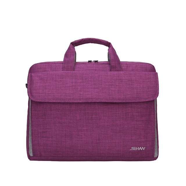 Unisex Bags Canvas Briefcase Zipper Office & Career Handbags Black Blue Purple Red