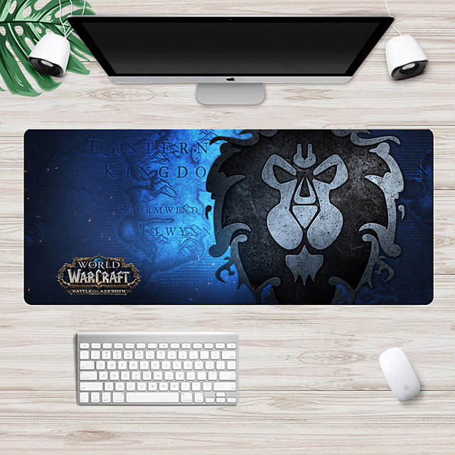Warcraft tribal alliance mouse pad 700*300 mm Gaming Mouse Pad / Keyboard Pad / Large Size Desk Mat Rubber Dest Mat