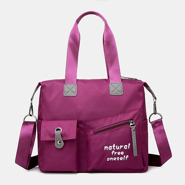 women large capacity waterproof nylon handbag shoulder bag