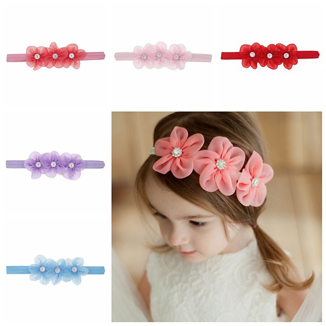 1pcs Toddler / Infant Girls' Sweet Floral Floral Style Hair Accessories White / Blue / Purple One-Size