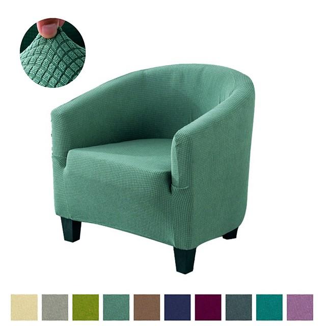fodera per sedia da club elasticizzata sedia a vasca sliocover tinta unita protezione per mobili resistente e lavabile