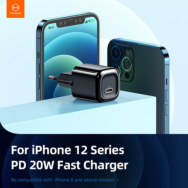 Mcdodo 20W PD 3.0 Fast Charger Universal TypeC Charger Power Adapter Quick Charging Plug for iPhone 12 Mini 11 Pro XS Max X Samsung S21 Note 20 S20 iPad EU/US Adapter