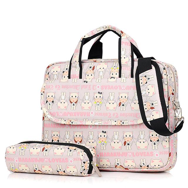 Unisex Bags Oxford Cloth Top Handle Bag Zipper Embossed Cartoon Daily Office & Career Handbags Black Blushing Pink Beige