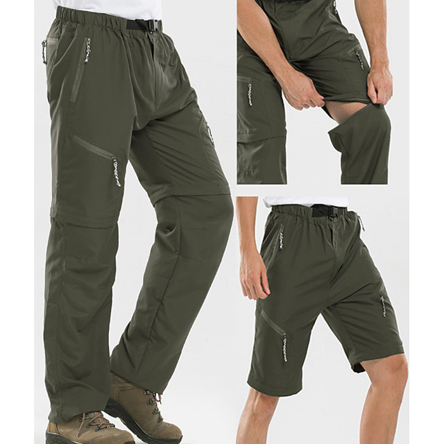 2-Pack Men's Lightweight Convertible Zip-Off Hiking Pants