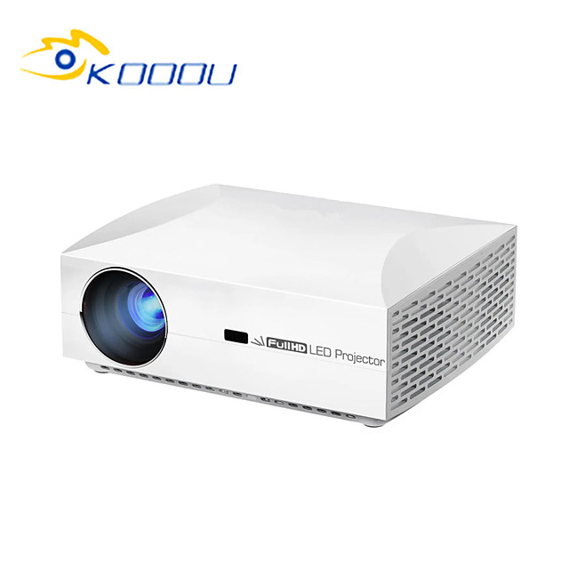 KOOOU® F30 LCD Projector Full HD 1920x1080 Projector LED para Home Theater 5500 Lumens 3D 4K Projector