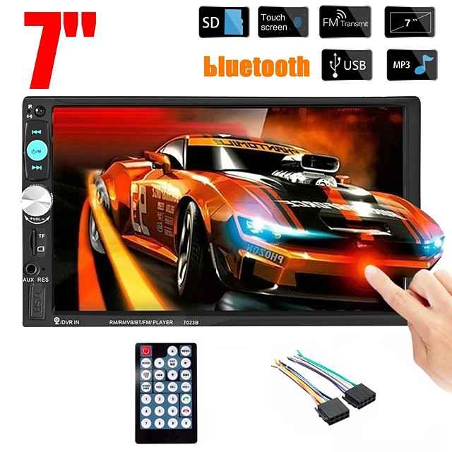 Oukoo 7023B 7 Inch 2 DIN Car MP5 Player Stereo Radio FM USB AUX HD bluetooth Touch Screen Support Rear Camera
