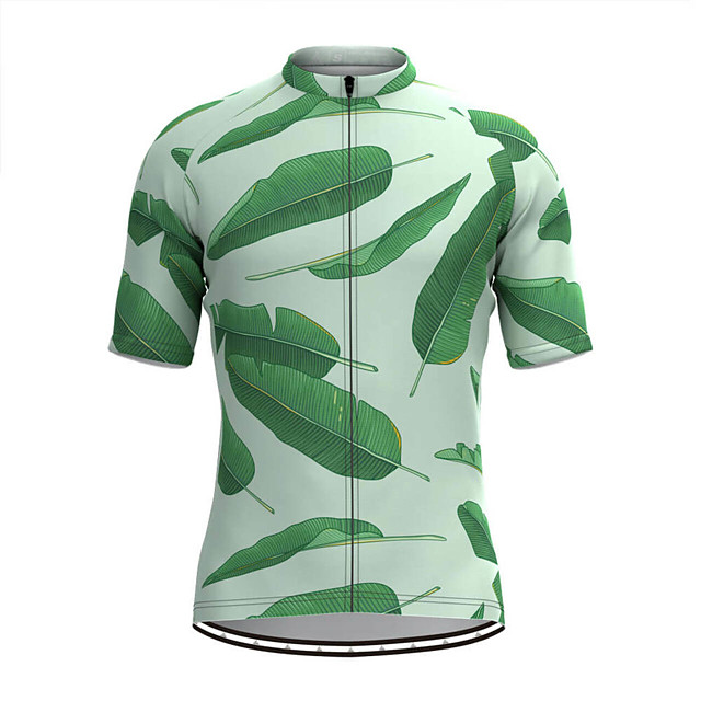 Men's Short Sleeve Cycling Jersey Green Bike Top Mountain Bike MTB Road Bike Cycling Breathable Sports Clothing Apparel / Stretchy / Athletic