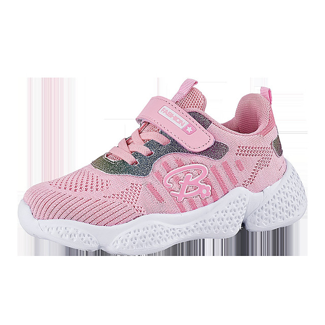 Girls' Trainers Athletic Shoes Comfort Mesh Little Kids(4-7ys) Big Kids(7years +) Daily Walking Shoes Pink Gray Fall Spring