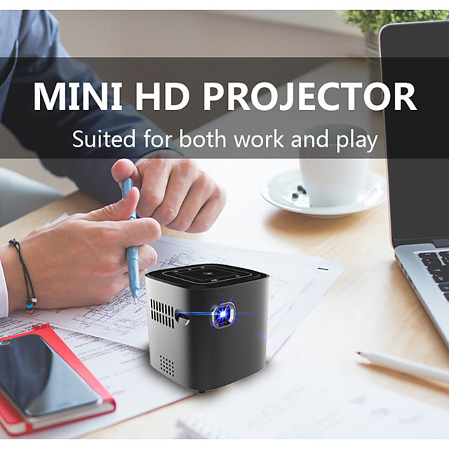 DL-S12 WiFi Mini Projector 1+16GB Android Projector Latest Update 3000 Lux Outdoor Movie Projector Compatible with Smartphones, PS4, TV Box, HDMI, USB, AV for Home Entertainment